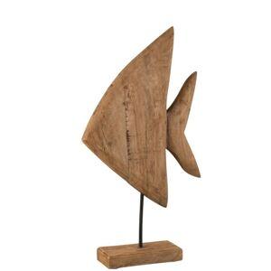 FISH ON FOOT MANGO WOOD NATURAL MEDIUM - 30*9*54 cm J-Line by Jolipa