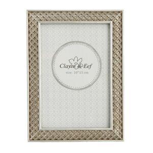 Fotorámeček stříbrný antique s ornamenty - 13*1*18 cm / 10*15 cm Clayre & Eef