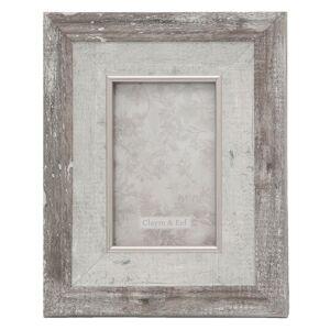 Fotorámeček v imitaci dřeva s patinou Warren - 20*2*25 / 10*15 cm Clayre & Eef