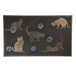 Gumová rohožka před dveře s kočkami - 75*45*1 cm