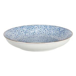 Hluboký talíř modré kvítky BlueFlow - Ø20*4 cm