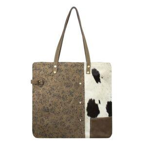 Hnědá kožená kabelka přes rameno Vintage - 50*39cm