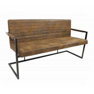 Hnědá lavice Bruut - 160*60*83 cm
