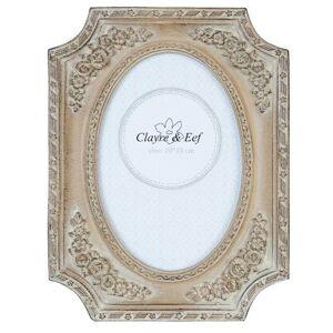 Hnědý fotorámeček v imitaci dřeva - 20*16/ 10*15cm Clayre & Eef