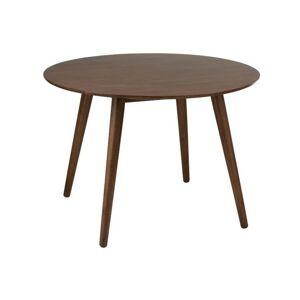 Hnědý jídelní stůl Armrest Vintage- Ø106*75 cm J-Line
