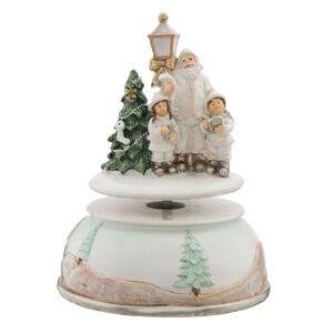 Hrací kolotoč Vánoce - Ø 11*15 cm Clayre & Eef