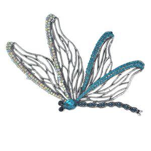 Kamínky zdobená brož ve tvaru motýla