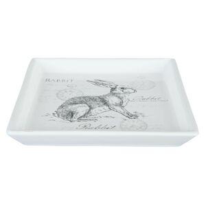 Keramická velikonoční miska s králíkem Rabbit - 15*15*2 cm Clayre & Eef