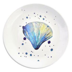 Keramický talíř s mušlí Exotic World – Ø 20*2 cm Clayre & Eef