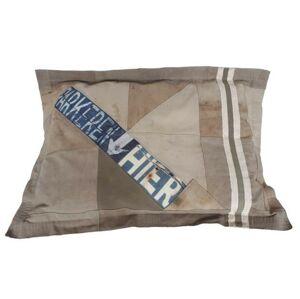 Khaki válecí polštář na zem Army- 80*110cm Colmore by Diga