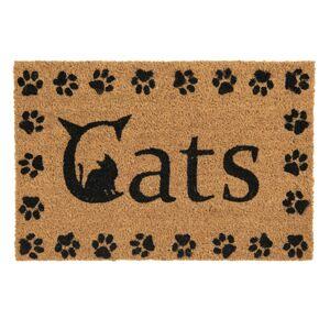 Kokosová rohožka před dveře Cats - 60*40*1 cm