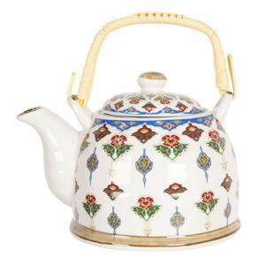 Konvice na čaj s květinovými ornamenty - 18*14*12 cm / 0,8L