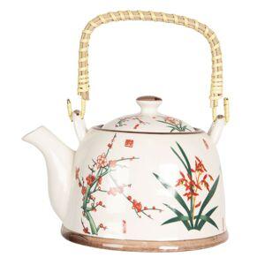 Konvička na čaj s japonskými květy - 18*14*12 cm / 0,8L Clayre & Eef