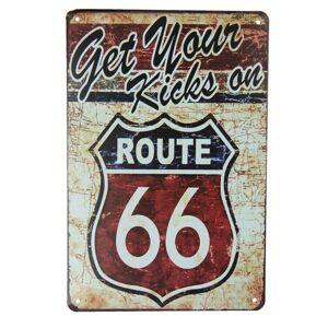 Kovová cedule Route 66 - 20*30 cm