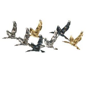 Kovová nástěnná dekorace Ptáci - 128*5*48 cm