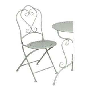 Kovová skládací zahradní židle zelená - 48*40*93 cm Clayre & Eef
