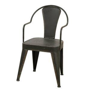 Kovová industrial židle Marley - 49*47*84 cm Clayre & Eef