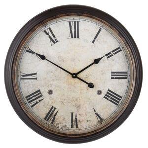 Kovové hnědé hodiny - Ø 63*10 cm Clayre & Eef