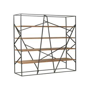 Kovový dřevěný policový regál Cube -150*40*200cm Colmore by Diga