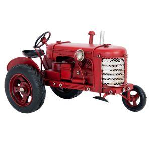 Kovový model traktoru v retro stylu - 17*9*10 cm