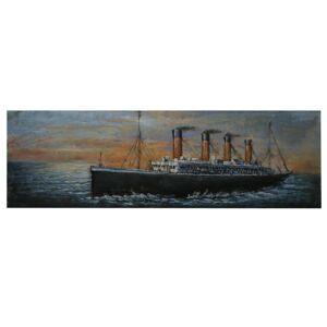 Kovový obraz na stěnu Titanic - 180*56*6 cm