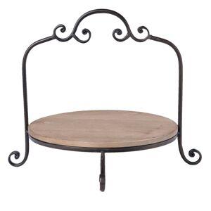Kovový ozdobný stojan/ podnos na talíře - 35*33*29 cm Clayre & Eef