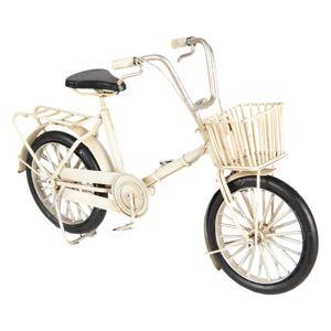 Kovový retro model bílého jízdního kola - 23*6*15 cm Clayre & Eef