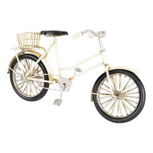 Kovový retro model bílého kola s košíkem - 23*7*12 cm Clayre & Eef