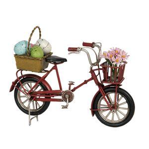 Kovový retro model jízdního kola s vajíčky - 17*5*12 cm