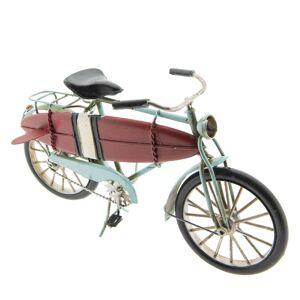 Kovový retro model jízdního kola se surfem - 29*15*9 cm