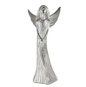 Kovový stříbrný anděl Anael - 11*10*21 cm Colmore by Diga