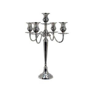 Kovový stříbrný svícen - Ø 46*62cm Colmore by Diga