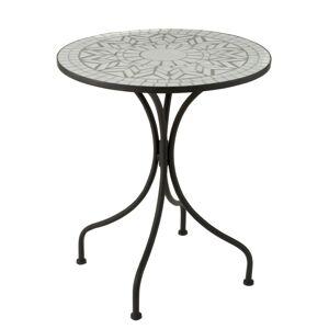 Kovový zahradní stolek Square Mosaic White - Ø61*71 cm J-Line