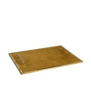 Zlatý podnos s uchy - 40*30*4,5 cm J-Line