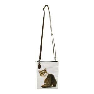 Kožená bavlněná Crossbody s kočičkou - 18*2*23cm