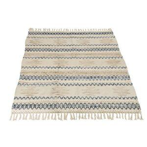 Krémovo-modrý koberec Denim s třásněmi - 120*180cm J-Line