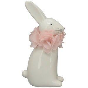 Krémový keramický králíček - 7*4*13 cm Clayre & Eef