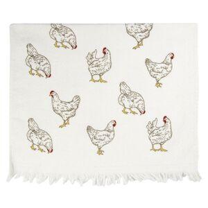 Kuchyňský froté ručník Lucky Chicken - 40*60 cm Clayre & Eef