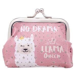 Malá růžová peněženka Lama no drama - 10*7 cm Clayre & Eef