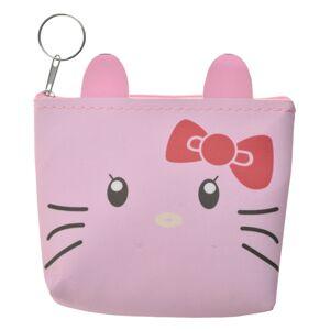 Menší růžová peněženka se zvířátkem - 12*13 cm