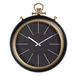 Minimalistické černo-zlaté nástěnné hodiny Dorés - 42*8*54 cm / 1*AA