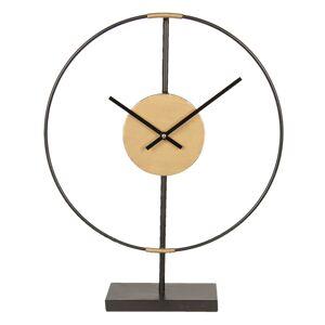 Minimalistické kovové stolní hodiny - 39*9*49 cm/1xAA Clayre & Eef