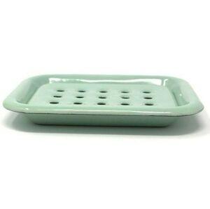Mintová smaltovaná mýdlenka Mint dot - 13*10cm
