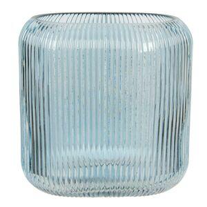 Modrá skleněná oválná váza Daffy - 19*7*16 cm