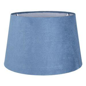 Modré semišové stínidlo Chic - Ø 25*15 cm/ E27 Clayre & Eef