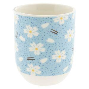 Modrý kalíšek s květy - Ø 6*8 cm / 0,1L Clayre & Eef
