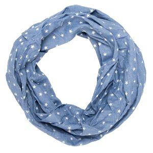 Modrý šátek Marsile s hvězdičkami - 40*160 cm Juleeze