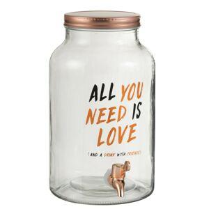 Nádoba na nápoje s kohoutkem Love - 17*24*31cm