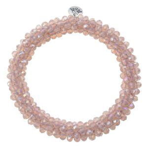 Růžový korálkový náramek Basic Big - Ø 6-7cm