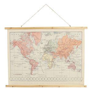 Nástěnná historická mapa světa z roku 1914 - 100*2*75 cm